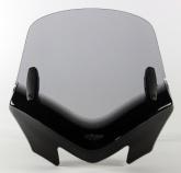 Uniwersalna szyba do motocykli bez owiewek MRA, forma VFSZ, czarna