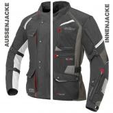 Kurtka motocyklowa BUSE ZESTAW EXRC Porto czarno/czarny 64