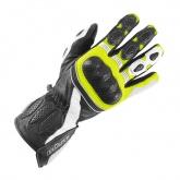 Rękawice motocyklowe damskie BUSE Pit Lane czarno-biało-neonowe