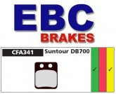 Klocki rowerowe EBC SUNTOUR DB700 CFA341 (1 kpl.)