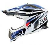 Kask motocyklowy KYT STRIKE EAGLE STRIPE biały/niebieski