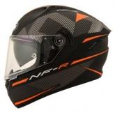 Kask motocyklowy KYT NF-R LOGOS pomarańczowy matowy