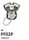 PRINT Dwustronny wypukły brelok na klucze  bicilindro harley