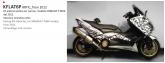 PRINT zestaw naklejek motocyklowych do Yamaha TMAX from 2012 to 2014 mimetic białe