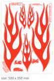 PRINT naklejka z czerwone grafika