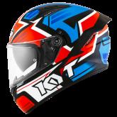 Kask Motocyklowy KYT NF-R ARTWORK czerwony/niebieski - M