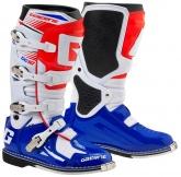 Buty motocyklowe GAERNE SG-10 biało-niebiesko-czerwone