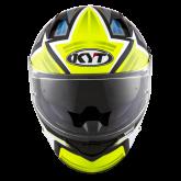 Kask Motocyklowy KYT NF-R ARTWORK żółty/szary - L