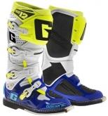 Buty motocyklowe GAERNE SG-12 biało-niebieskie-żółte fluo