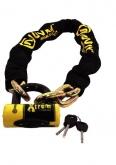 AUVRAY zestaw łańcuch 120cm z ogniwem lasso z kłódką XTREM MINI - długość 120cm, średnica 13,5mm (kl