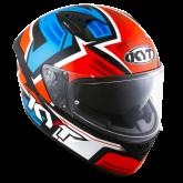 Kask Motocyklowy KYT NF-R ARTWORK czerwony/niebieski - XS