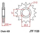Zębatka napędowa przednia JTF1120.11 - 11 zębów