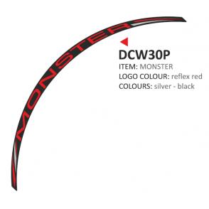 PRINT zestaw 8 naklejek na koła motocyklowe Ducati Monster czerwone