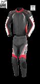 Kombinezon motocyklowy BUSE Silverstone Pro czarno-czerwony
