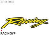 PRINT zestaw 10 naklejek Racing żółte