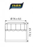 Filtr Oleju ISON 163 (HF163)