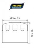 Filtr Oleju ISON 153 (HF153)