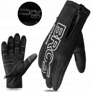 ROCKBROS Rękawiczki rowerowe (długie, czarne) rozm.L