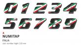 PRINT zestaw 10 naklejek (cyfry) w kolorze Italian Flag