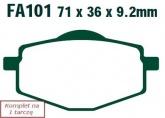 Klocki hamulcowe EBC SFA101HH skuterowe wzmacniane (kpl. na 1 tarcze)