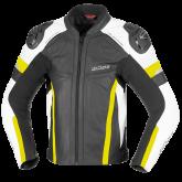 Kurtka motocyklowa skórzana BUSE Monza czarno-żółty 60