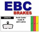 Klocki rowerowe EBC AVID ELIXIR/CODE 2011-2012 CFA616HH (1 kpl.)
