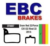 Klocki rowerowe EBC SRAM RED 22 / FORCE CX1 / RIVAL 22 CFA667 (1 kpl.)