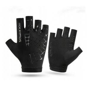 ROCKBROS Rękawiczki rowerowe (krótkie, czarne) rozm.L