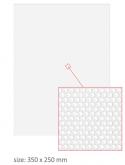 PRINT przeźroczysta naklejka na bak (stompgrip/tankpad) 350x250mm