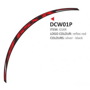 PRINT zestaw 8 naklejek na koła motocyklowe Suzuki GSXR czerwone