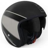 Kask Motocyklowy MOMO RAPTOR Czarny Mat / Dark Silver Outline