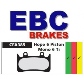 Klocki rowerowe EBC (spiekane) Hope Caliper 6 Piston Mono 6T CFA385HH