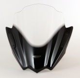 Uniwersalna szyba do motocykli bez owiewek MRA, forma RNB, czarna