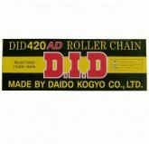 Łańcuch napędowy DID 420AD ilość ogniw 124 (bezringowy)