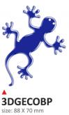 Naklejka 3D PRINT Geco niebieska