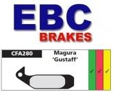 Klocki hamulcowe rowerowe EBC CFA280R MAGURA GUSTAV