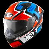 Kask Motocyklowy KYT NF-R ARTWORK czerwony/niebieski - XL