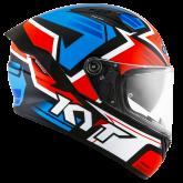 Kask Motocyklowy KYT NF-R ARTWORK czerwony/niebieski - L