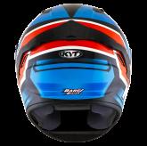 Kask Motocyklowy KYT NF-R ARTWORK czerwony/niebieski - S