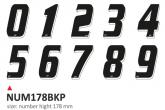 PRINT zestaw 10 naklejek (cyfry) w kolorze czarnym