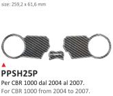 PRINT Naklejka na półkę kierownicy Honda CBR 1000 2004/2007