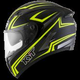 Kask Motocyklowy KYT FALCON 2 ESSENTIAL żółty fluo - XS