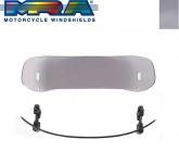 Deflektor szyby motocyklowej MRA 34/26 cm (typ VTA, przyciemniany)