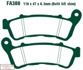 Klocki hamulcowe EBC SFA388HH skuterowe (kpl. na 1 tarcze)