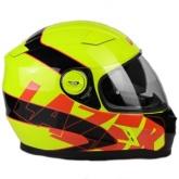 Kask motocyklowy LAZER BAYAMO Reflex żółty fluo/czarny/czerwony