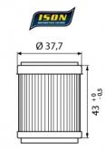 Filtr Oleju ISON 143 (HF143)