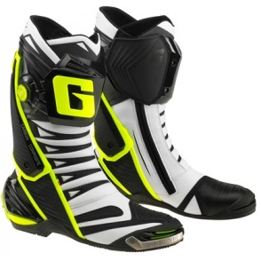 Buty motocyklowe GAERNE GP1 EVO białe czarne żółte rozm. 42