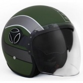 Kask Motocyklowy MOMO ARROW Military Green Frost / White Outline S