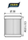 Filtr Oleju ISON 141 (HF141)