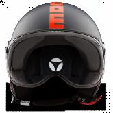 Kask Motocyklowy MOMO FGTR FLUO Czarny Mat/ Czerwony Fluo